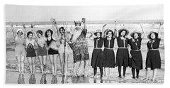 King Neptune And His Mermaids Bath Towel