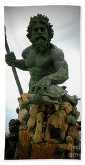 King Neptune Statue Bath Towel
