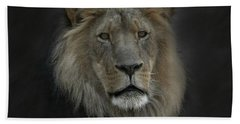 King Of Beasts Portrait Bath Towel