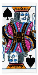 King Of Spades - V3 Hand Towel