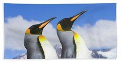 King Penguin Duo Hand Towel by Yva Momatiuk John Eastcott