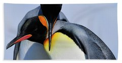 King Penguins Bonding Bath Towel by Tony Beck