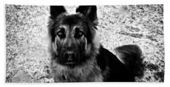 King Shepherd Dog - Monochrome  Bath Towel