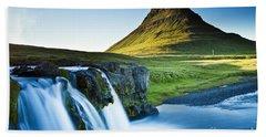 Kirkjufell Mountain Bath Towel by Gunnar Orn Arnason