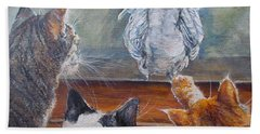 Bath Towel featuring the painting Kiss My Assssssss by Donna Tucker