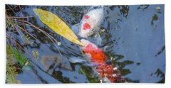 Kissin' Koi Bath Towel by HEVi FineArt