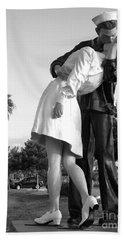 Kissing Sailor And Nurse Bath Towel