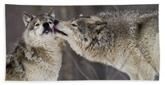 Kissy Face Hand Towel by Wolves Only