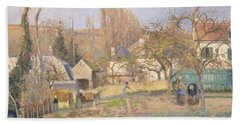 Kitchen Garden At The The Lhermitage, Pontoise, 1874 Oil On Canvas Hand Towel
