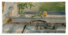 Kitchen Sink Hand Towel by Joy Nichols