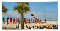 Kite Day At St. Pete Beach Hand Towel