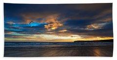 Kite Surfers On Tramore Beach Hand Towel