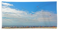 Kites Flying Over The Sand Hand Towel