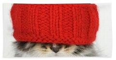 Kitten In A Hat Hand Towel