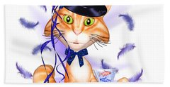 Kitticat Party Design Hand Towel