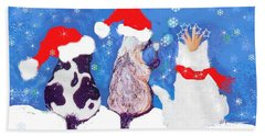Kitty Christmas Hand Towel