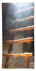 Hand Towel featuring the photograph Kiva Ladder by Marcia Socolik