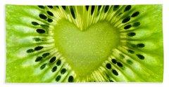 Kiwi Heart Hand Towel