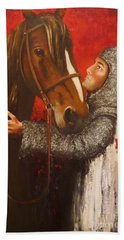 Knight And Horse Hand Towel