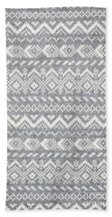 Knit Pattern Abstract Bath Towel