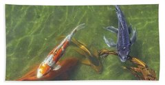 Bath Towel featuring the photograph Koi by Daniel Sheldon