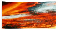 Hand Towel featuring the photograph Kona Sunset 77 Lava In The Sky  by David Lawson