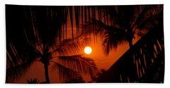 Kona Sunset Hand Towel by Bob Hislop