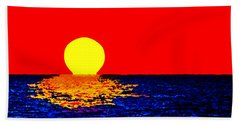 Kona Sunset Pop Art Hand Towel by David Lawson