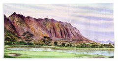 Koolau Golf Course Hawaii 16th Hole Bath Towel by Bill Holkham