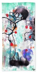 Hand Towel featuring the painting Kyoto Spring by Roberto Prusso