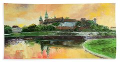 Krakow - Wawel Castle Bath Towel