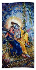 Krishna Leela Bath Towel by Harsh Malik