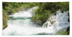 Krka Waterfalls Croatia Hand Towel