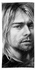 Kurt Cobain Hand Towel