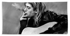 Kurt Cobain Guitar  Bath Towel