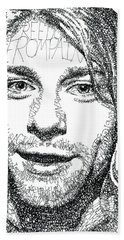 Kurt Cobain Bath Towel