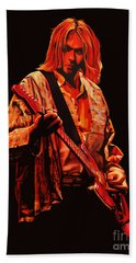 Kurt Cobain Painting Hand Towel by Paul Meijering