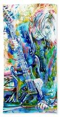Kurt Cobain Portrait.1 Bath Towel