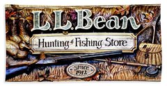 L. L. Bean Hunting And Fishing Store Since 1912 Hand Towel