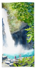 La Fortuna Waterfall Bath Towel by Carlin Blahnik