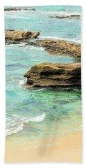 La Jolla Beach Rocks Hand Towel