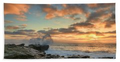 La Jolla Cove At Sunset Hand Towel