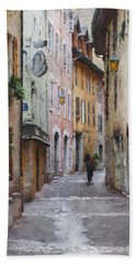 La Pietonne A Annecy - France Bath Towel