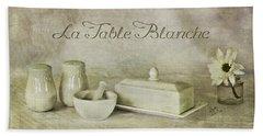 La Table Blanche - The White Table Bath Towel