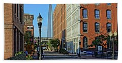 Laclede's Landing Just North Of The Arch Hand Towel by Greg Kluempers