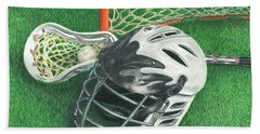 Lacrosse Hand Towel by Troy Levesque