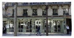 Laduree On The Champs De Elysees In Paris France  Bath Towel