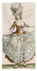 Ladies Style Evening Dress, Engraved Bath Towel