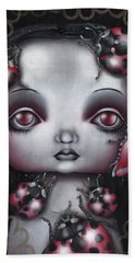 Lady Bug Girl Hand Towel