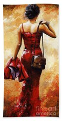 Lady In Red #25 Bath Towel